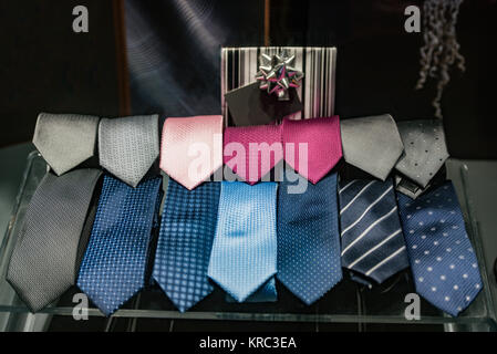 Ties in a store in Paris - Stock Photo