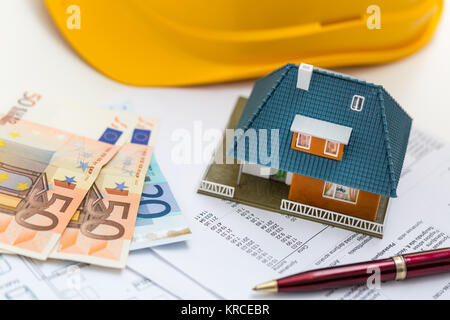 concept of real estate business management and accounting - Stock Photo