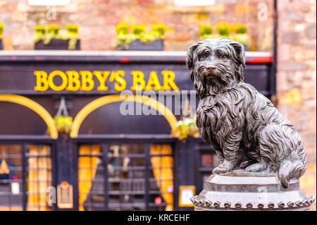 Greyfriars Bobby in edinburgh - Stock Photo