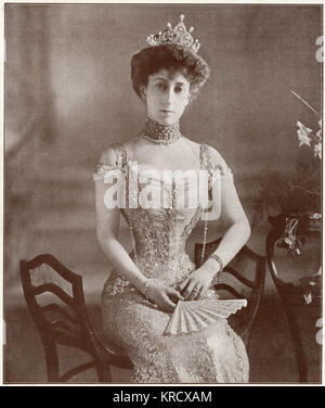 Maud of Wales (1869 - 1938), Queen of Norway as spouse of King Haakon VII. Youngest daughter of the British king - Stock Photo