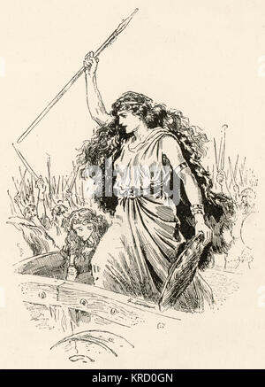 Queen Boudica of the Iceni Tribe. Commanded a combined army of British tribes which rose up and sacked Camulodunum - Stock Photo