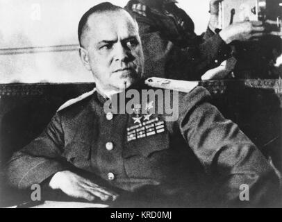 Georgy Konstantinovich Zhukov, Soviet officer in the Red Army who played a decisive role during World War Two, including - Stock Photo