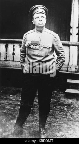 Maria Leontievna Bochkareva (nee Frolkova),  who fought in World War I and formed the First Russian Women's Battalion - Stock Photo