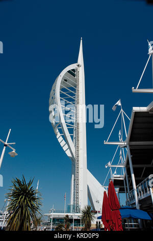 The Spinnaker Tower in Portsmouth, opened in October 2005.  It is a 170 metre high visitor attraction overlooking - Stock Photo