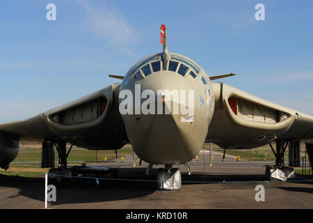 A Handley Page Victor K2 tanker aeroplane on display at the Elvington Air Museum, near York.  Victor K2s made a - Stock Photo