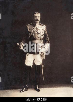 Field Marshal Horatio Herbert Kitchener, 1st Earl Kitchener (1850-1916), British Field Marshal, a diplomat, and - Stock Photo