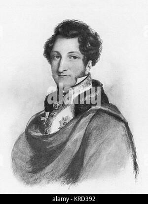 H.S.H. Ernest I, Duke of Saxe-Coburg-Gotha (1784-1844), father of Albert the Prince Consort of Queen Victoria.  - Stock Photo
