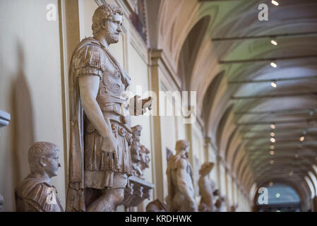Roman antique statues in a museum - Stock Photo