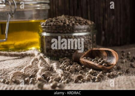 Hemp products - Stock Photo