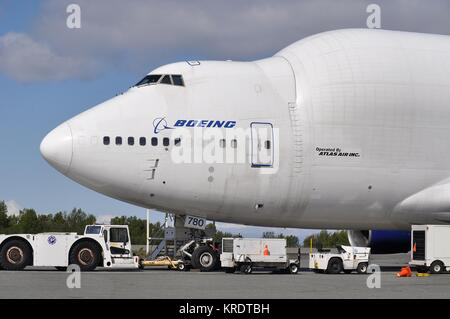 BOEING 747-400LCF DREAMLIFTER N780BA OF ATLAS AIR CARGO - Stock Photo