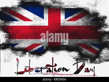 Liberation Day of United Kingdom - Stock Photo