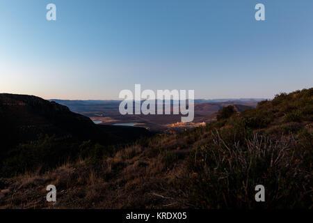 Overlooking the town - Graaff-Reinet, Valley Of Desolation - Stock Photo