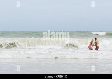 Phuket Thailand 06132014 Red Flags On Patong Beach In Phuket Stock Photo Alamy