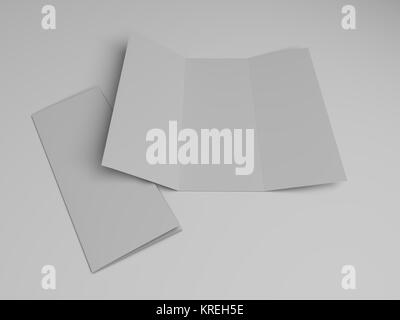Tri Fold Flyer Brochure Template With Waterdrop Image Stock Vector