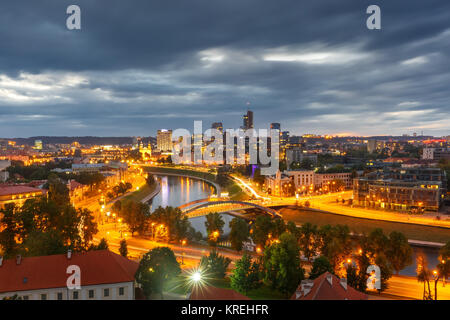 Panorama New Center of Vilnius, Lithuania - Stock Photo