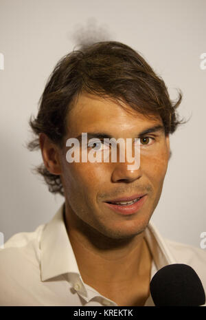MELBOURNE, AUSTRALIA - JANUARY 18: Rafael Nadal of Spain arrives for Crown's IMG@23 Tennis Players' Party at Crown - Stock Photo