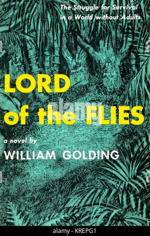 Lord of the Flies is a 1954 dystopian novel by Nobel Prize-winning English author William Golding about a group - Stock Photo