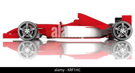 image red sports car on a white background - Stock Photo