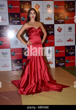 Mumbai, India. 19th Dec, 2017. Canadian model Nora Fatehi attend the Red carpet event of Zee Cine Awards 2018 at - Stock Photo