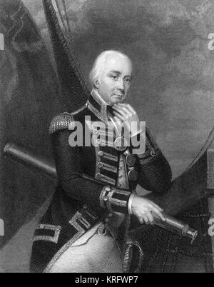 Vice Admiral Lord Cuthbert Collingwood (1748-1810), English naval commander.      Date: circa 1832 - Stock Photo