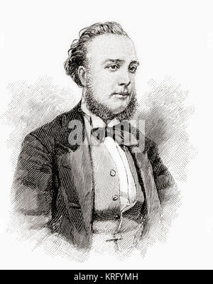 Sir Alexander Campbell Mackenzie, 1847 – 1935.  Scottish composer, conductor and teacher.  Seen here aged 35.  From - Stock Photo