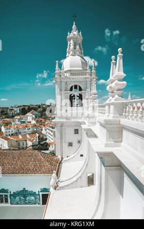 Monastery of St. Vincent Outside the Walls, or Iglesia de Sao Vicente de Fora in Lisbon, Portugal - Stock Photo