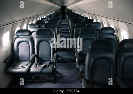 Empty Economy Class Cabin Seats On An Air Canada Boeing