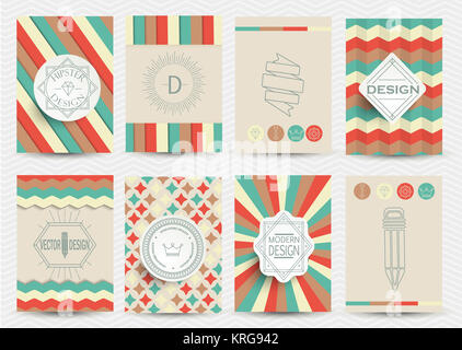 Set of Retro Logotypes - Stock Photo