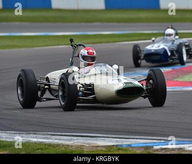 Peter Morton, Lightning Envoyette, FJHRA, Championship, pre-64 Front and Rear Engined Formula Juniors, Donington - Stock Photo