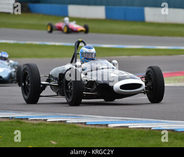 Steve Futter, Lotus 20, FJHRA, Championship, pre-64 Front and Rear Engined Formula Juniors, Donington Historic Festival, - Stock Photo