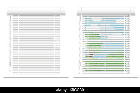 Detailed window set isolated vector illustration. Architectural details, window treatments, interior elements. Cartoon - Stock Photo
