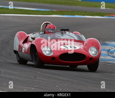 Barry Cannell, Anthony Ditheridge, Cooper Monaco, Stirling Moss Trophy, pre-61 sports cars, Donington Historic Festival, - Stock Photo