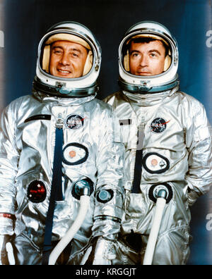 Astronauts Virgil I. Grissom (left) and John W. Young - Stock Photo