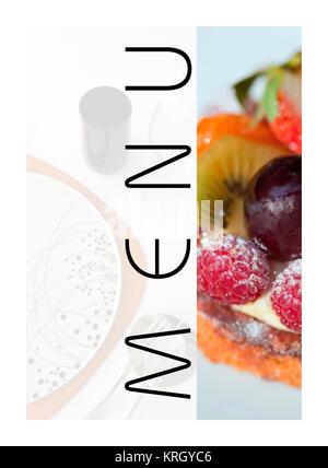 A restaurant menu - Stock Photo