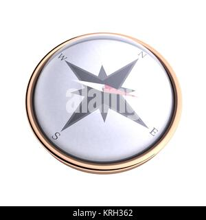 Compass over white background - Stock Photo