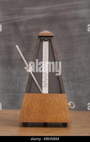 Old Classic Metronome - Stock Photo