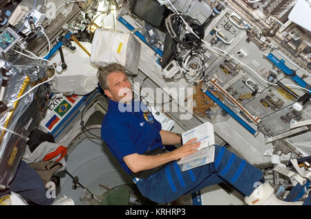 NASA Space Shuttle Discovery International Space Station Expedition 13 prime crew member German astronaut Thomas - Stock Photo