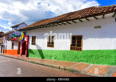 Colonial Street in Bogota, Colombia