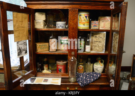 ... A Turn Of The Century Medicine Cabinet In The Stewart Historical Museum  In The Old Mining