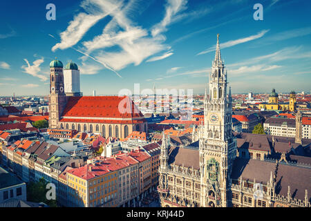 Aerial view of Munchen - Stock Photo