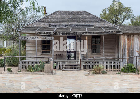 Langtry, Texas - The 'Jersey Lilly,' Judge Roy Bean's combination saloon and courtroom during the late 1800s when - Stock Photo