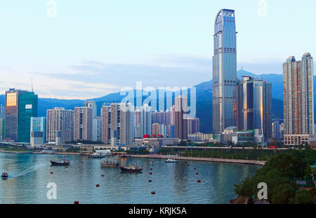 daytime view of the downtown city - Stock Photo