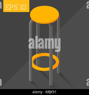 bar chair isometric vector illustration - Stock Photo