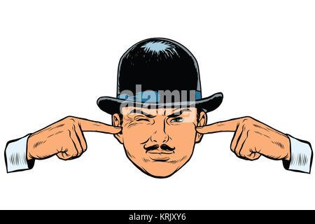 Retro European sleuth spy or detective - Stock Photo