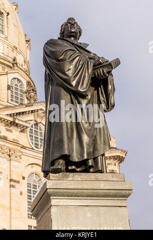 martin luther as a bronze statue - Stock Photo