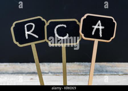 Business acronym RCA as Root Cause Analysis - Stock Photo