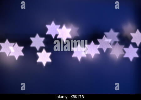 Star of David lights for Hanukkah - Stock Photo