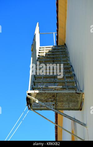 A fire escape. - Stock Photo