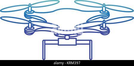 Isolated drone design - Stock Photo