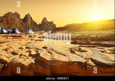 Trip to desert - Stock Photo